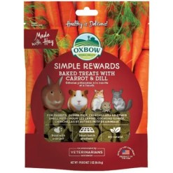 Oxbow Simple Rewards Oven Baked with Carrot & Dill Small Animal Treats, 3-oz.