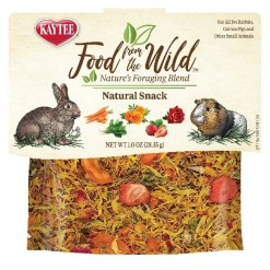 Kaytee Food From the Wild Natural Snack Rabbit & Guinea Pig Treats, 1-oz Bag.