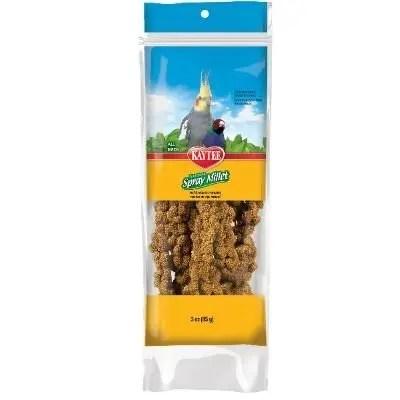 Kaytee Natural Spray Millet Bird Treats, 3-oz Bag .