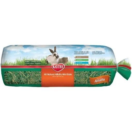 Kaytee Alfalfa Mini Bale Small Animal Hay, 24-oz Bag.