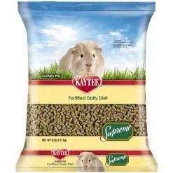 Kaytee Supreme Fortified Daily Diet Guinea Pig Food, 5-lb Bag.
