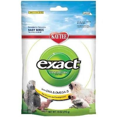 Kaytee Exact Hand Feeding Formula Baby Bird Food, 7.5-oz Bag