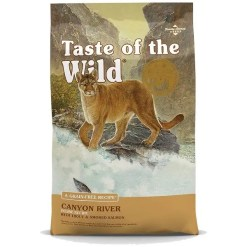 Taste of the Wild Canyon River Grain-Free Dry Cat Food, 14-lb Bag.