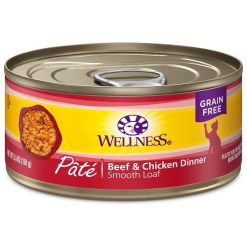 Wellness Complete Health Adult Beef & Chicken Formula Grain-Free Canned Cat Food, 3-oz Can, Case of 24
