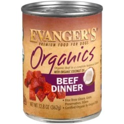 Evanger's Organics Beef Dinner Grain-Free Canned Dog Food, 12.8-oz.