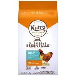 Nutro Wholesome Essentials Indoor Chicken & Brown Rice Recipe Adult Dry Cat Food, 5-lb Bag.