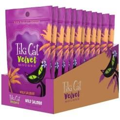 Tiki Cat Velvet Mousse Salmon Grain-Free Wet Cat Food, 2.8-oz pouch, Case of 12.