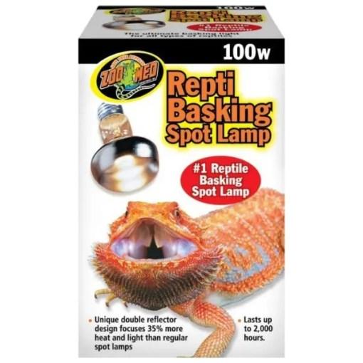 Zoo Med Repti Basking Reptile Spot Lamp, 100 watt Bulb.