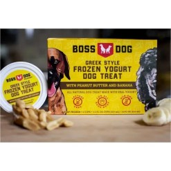 Boss Dog Greek Style Frozen Yogurt Peanut Butter & Banana.