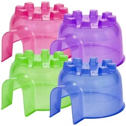 Kaytee Small Animal Igloo Hideout, Large. Colors, pink, blue, green and purple.