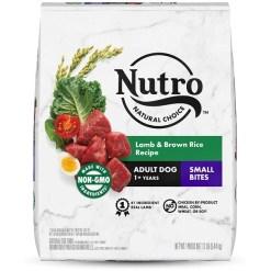 Nutro Natural Choice Small Bites Adult Lamb & Brown Rice Recipe Dry Dog Food, 12-lb SKU 7910512964