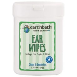 Earthbath Ear Wipes for Dogs & Cats, 25 Wipes.