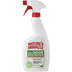 Nature's Miracle Mountain Fresh 3 in 1 Odor Destroyer, 24-oz Bottle.