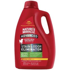 Nature's Miracle Advanced Dog Enzymatic Severe Mess Stain & Odor Eliminator, 1-gal Bottle.