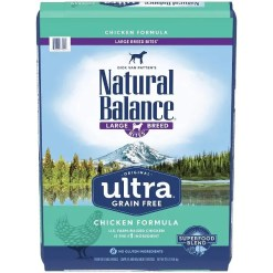 Natural Balance Original Ultra Chicken Grain-Free Large Breed Dry Dog Food, 24-lb Bag.
