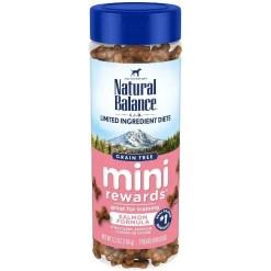Natural Balance Limited Ingredient Diets Mini Rewards Soft & Chewy Salmon Formula Dog Treats, 5.3-oz Jar.