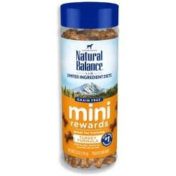 Natural Balance L.I.D. Limited Ingredient Diets Mini Rewards Turkey Formula Dog Treats, 5.3-oz Jar.