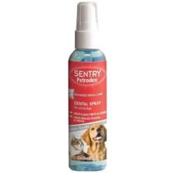 Sentry Petrodex Veterinary Strength Dog & Cat Dental Spray, 4-oz Bottle.