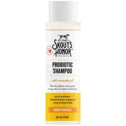 Skout's Honor Probiotic Honeysuckle Pet Shampoo, 16-oz Bottle.