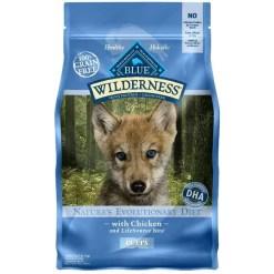 Blue Buffalo Wilderness Puppy Chicken Recipe Grain-Free Dry Dog Food, 4.5-lb Bag.