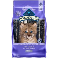 Blue Buffalo Wilderness Kitten Chicken Recipe Grain-Free Dry Cat Food, 5-lb Bag.