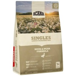 Acana Singles Duck & Pear Dog Food, 25-lb Bag.