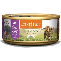 Instinct Original Grain-Free Pate Real Rabbit Recipe Wet Canned Cat Food, 5.5-oz, Case of 12.