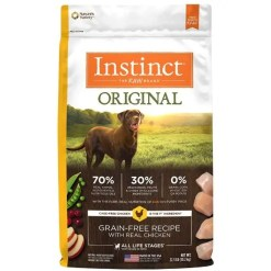 Instinct Original Grain-Free Recipe with Real Chicken Freeze-Dried Raw Coated Dry Dog Food, 22.5-lb Bag.