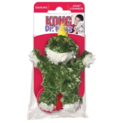 KONG Dr. Noyz Frog Plush Dog Toy, Extra Small.