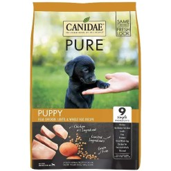CANIDAE Grain-Free PURE Puppy Real Chicken, Lentil & Whole Egg Recipe Dry Dog Food, 4-lb Bag.