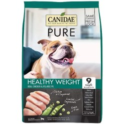 CANIDAE Grain-Free PURE Healthy Weight Real Chicken & Pea Recipe Dry Dog Food, 12-lb Bag.