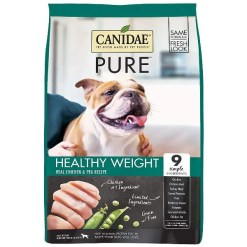 CANIDAE Grain-Free PURE Healthy Weight Real Chicken & Pea Recipe Dry Dog Food, 24-lb Bag.