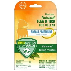 TropiClean Flea & Tick Collar for Small Medium Dogs.
