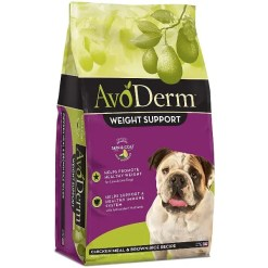 AvoDerm Weight Support Chicken Meal & Brown Rice Recipe Dry Dog Food, 4.4-lb Bag.