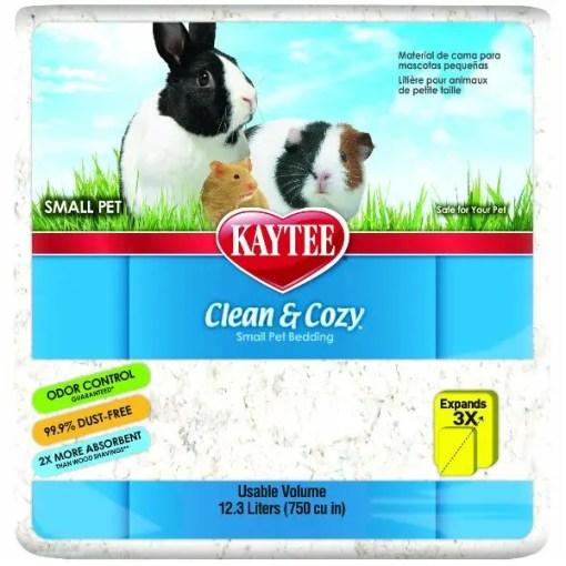 Kaytee Clean & Cozy Small Animal Bedding, White, 12.3-L Bag.