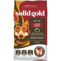 Solid Gold Wolf King Bison & Brown Rice Large Breed Adult Dry Dog Food, 24-lb Bag.