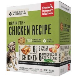 The Honest Kitchen Grain-Free Chicken Recipe Dehydrated Dog Food, 4-lb Box, Makes 16-lb of Food.
