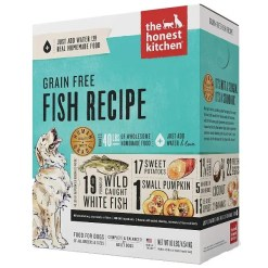 The Honest Kitchen Grain-Free Fish Recipe Dehydrated Dog Food, 4-lb Box, Makes 16-lb of Food.
