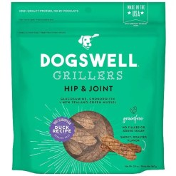 Dogswell Grillers Hip & Joint Duck Recipe Grain-Free Dog Treats.