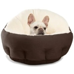 Best Friends by Sheri OrthoComfort Ilan Bolster Jumbo Pet Bed, Dark Chocolate.
