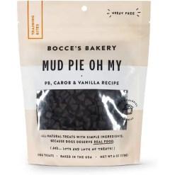Bocce's Bakery Mud Pie Oh My Training Bites Dog Treats, 6-oz Bag.