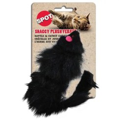 Ethical Pet Spot Shaggy Plush Ferret Rattle & Catnip Cat Toy.