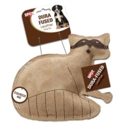 Ethical Pet Spot Dura-Fused Leather & Jute Raccoon, Small.