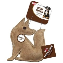 Ethical Pet Spot Dura-Fused Leather & Jute Fox, Small.