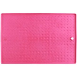 Dexas Grippmat Flexible Pet Placemat, Small, Pink.