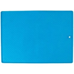 Dexas Grippmat Flexible Pet Placemat, Small, Blue.