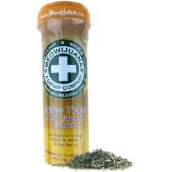 Meowijuana Whisker Tickler Catnip, Chamomile, & Dandelion Blend, 26-g Bottle.
