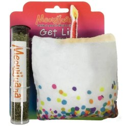 Meowijuana Refillable Get Lit Birthday Cake Catnip Cat Toy