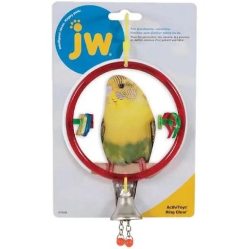 JW Ring Clear Bird Toy.
