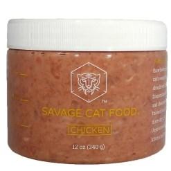 Savage Cat Food Raw Frozen Chicken Cat Food, 12-oz Tub. SKU 4307494029